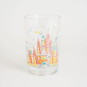 1996 Disney World 25th Anniversary Glass